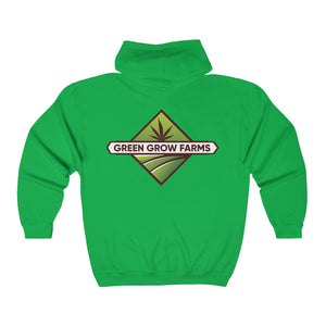 Green Grow Farms Merch - Unisex Heavy Blend™ Full Zip Hooded Sweatshirt