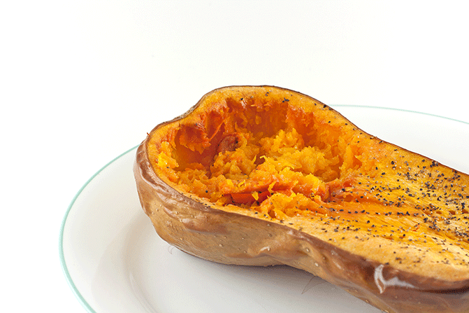 Baked Squash and Spiced Turkey Stuffin'