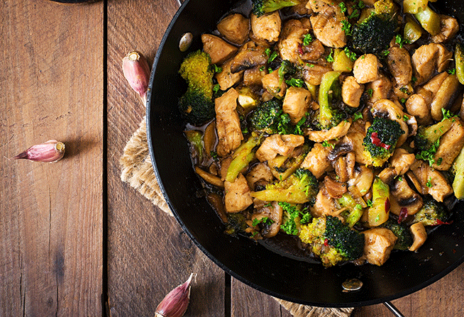Broccoli & Chicken Saute