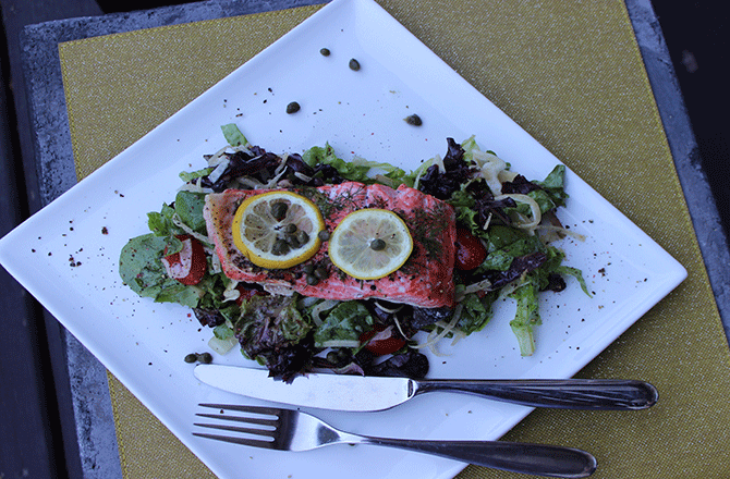 Salmon Salad with Lemon Vinaigrette