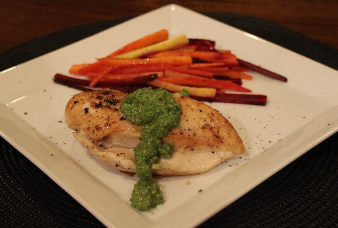 Sautéed Chicken Breast with Basil Mint Pesto