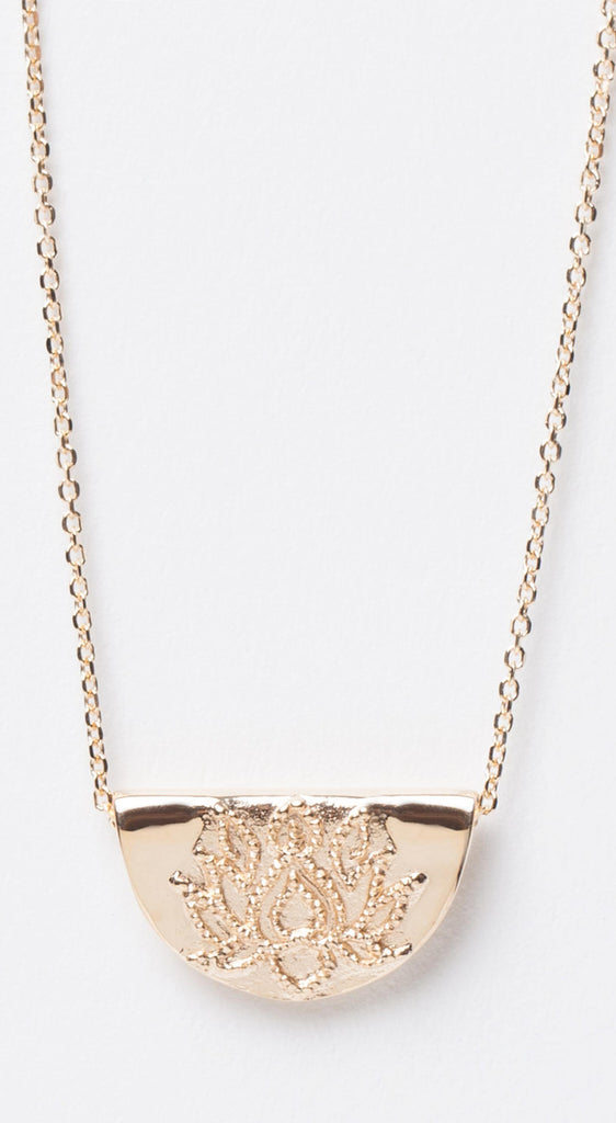 Lotus Short Necklace - Gold - emporia store