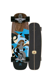 "30"" BLUE RAY SURFSKATE COMPLETE"
