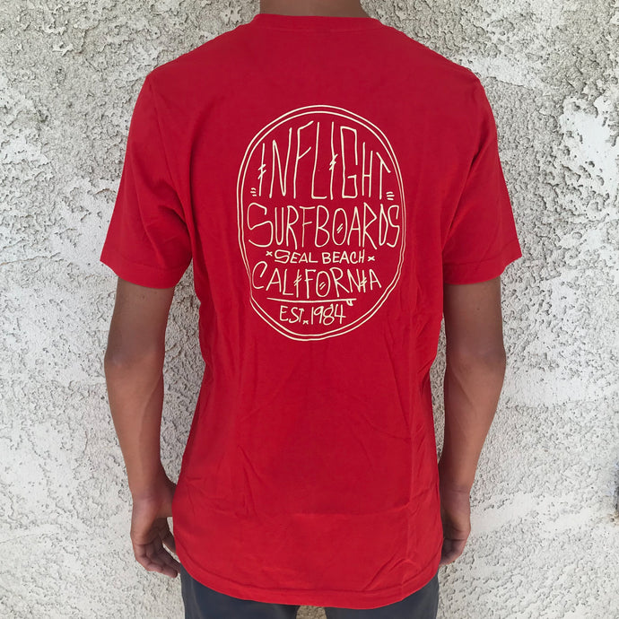 CHICKEN SCRATCH TEE - RED