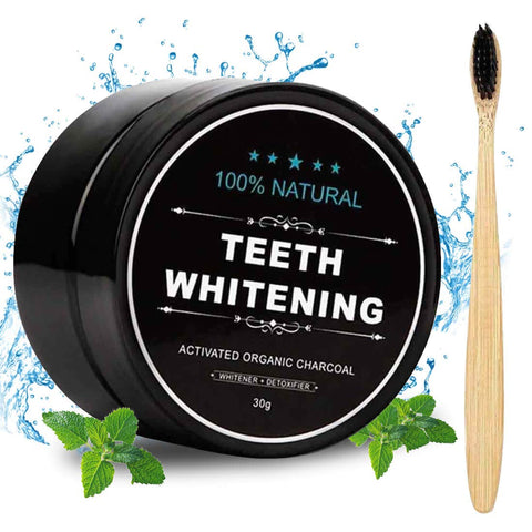 Charcoal toothpaste with Bamboo Brush - Products From Nature