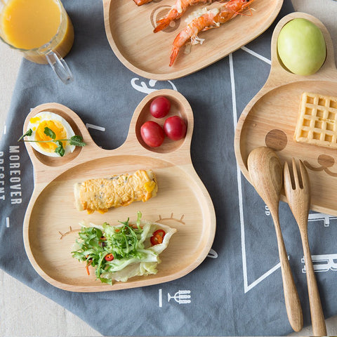 Baby Feeding Plate Natural Wood BPA Free - Products From Nature