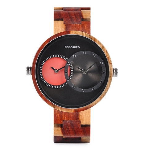 Wood Watch with two Time zones! - Products From Nature
