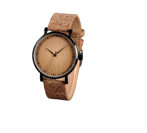 Bamboo Watch with Cork Band