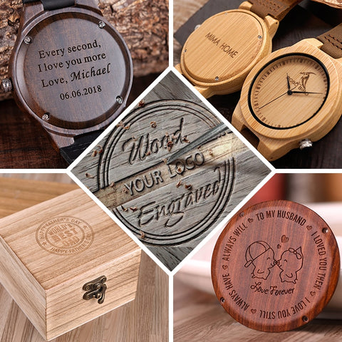 Engraved and Customize Watches/ Box - Products From Nature