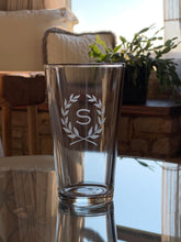 Load image into Gallery viewer, Pint Glass with Monogram, 16 oz