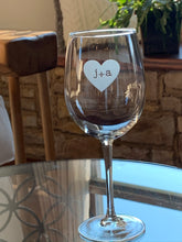 Load image into Gallery viewer, Forever Stamped in My Heart Wine Glass, 16 oz