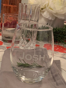 Set of 4 | Personalized 15 oz Stemless Wine Glass