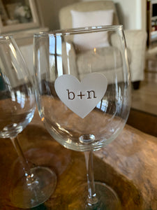 Forever Stamped in My Heart Wine Glass, 16 oz