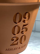 Load image into Gallery viewer, Personalized Terra Cotta Flower Pot with Custom Date and Names
