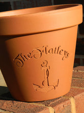 Load image into Gallery viewer, Custom Engraved Anchor Terra Cotta Flower Pot