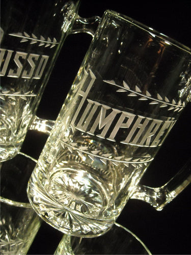 25 oz Beer Mug with Hand Cut Name