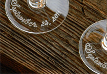 Load image into Gallery viewer, Custom Hand Engraved Mother of the Bride or Mother of the Groom Champagne Glass