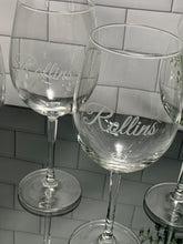 Load image into Gallery viewer, 16 oz Personalized Etched Wine Glass with Name or Custom Text