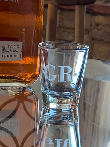 Monogrammed Shot Glass 1 oz