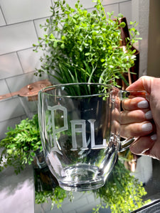 Hand Cut 14 oz Cambridge Glass Coffee Mug