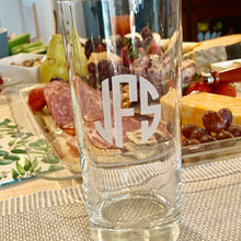 Load image into Gallery viewer, Set of 4 | 15 oz Beverage Hiball Glass Personalized with Monogram
