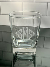 Load image into Gallery viewer, Monogrammed Square Rocks Glass, 13 oz