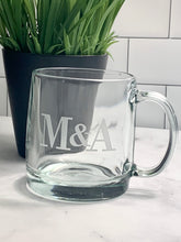 Load image into Gallery viewer, 13 oz Coffee Mug Personalized with Monogram