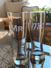 Load image into Gallery viewer, Mix and Match, Mr & Mrs Pilsner Beer Glasses | Set of 2