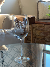 Load image into Gallery viewer, Etched Monogrammed Wine Glass, 16 oz