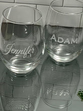 Load image into Gallery viewer, Personalized 21 oz Stemless Wine Glass