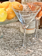 "Load image into Gallery viewer, Ready to Ship ""Quarantini"" Martini Glass"