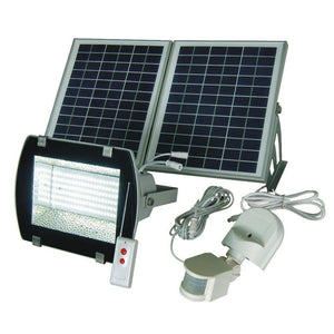 Industrial Solar Powered Outdoor LED Flood Light with Optional Motion Sensor