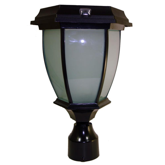 Solar Powered Coach Lamp Light with warm white LEDs