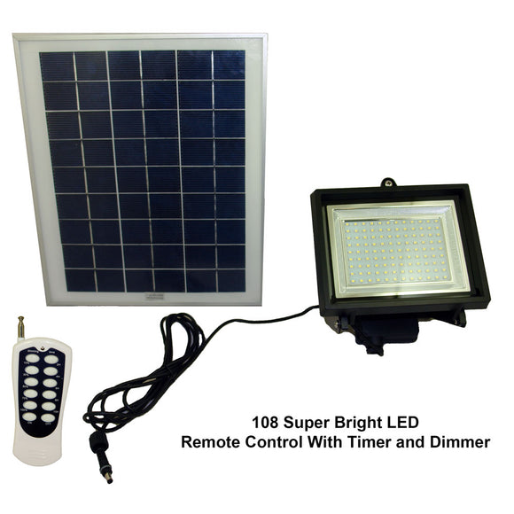 Commercial Grade Solar Powered Flood Lights with Remote Control and Timer