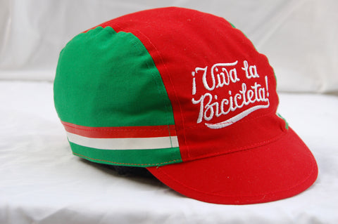 Viva Retro Embroidered Cycling Cap