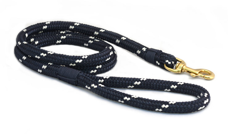First Mate Big Dog Leash: Newport Navy & White