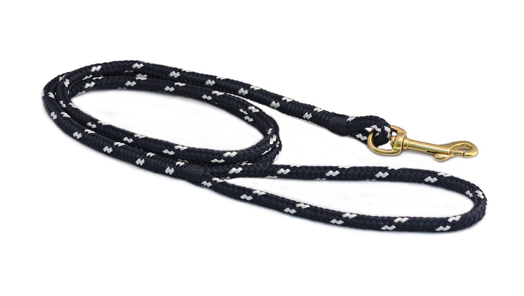 First Mate Small Dog Leash: Newport Navy & White