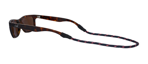 Sunglass Strap: Navy/Coral
