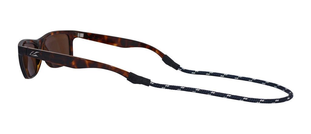 Sunglass Strap: Navy/White