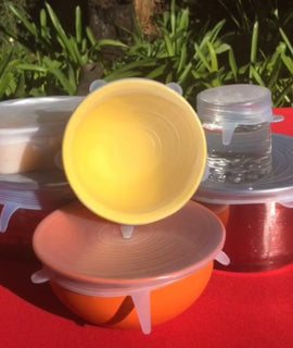 Set of 6 Silicone Lids