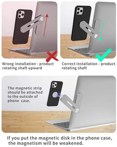 Safty Cellphone Stand for Smartphone- Enjoying Dual Screen at The Same Time