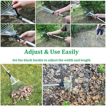 Load image into Gallery viewer, Garden Leaf Rake,Grass Rake for Lawn-Free Shipping