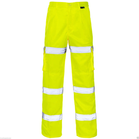 SUPERTOUCH Hi Vis 3 Band Combat Trousers