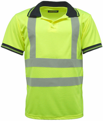 Hi Vis Short Sleeve Polo Shirt