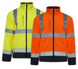 Mens Hi Vis Softshell Jacket HV602