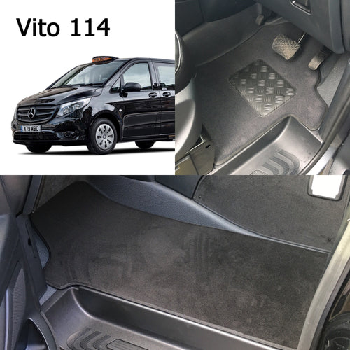 NEW Mercedes VITO 114 London Taxi Front CARPET Mats set