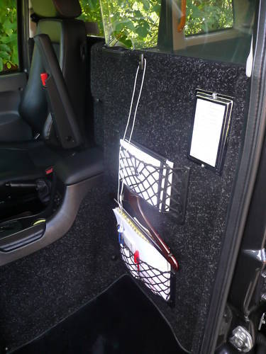 LTI TX1, TX2 & TX4 Carpeted front Division, Fully Fitted London black Taxi Cab Fitting Included