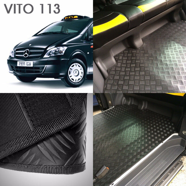 NEW Mercedes VITO 113 London Taxi Rear RUBBER Over Mat W639 Vito Taxi (penso)