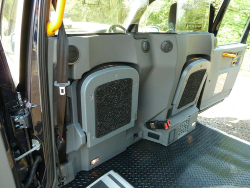 LTI TX1, TX2 & TX4 Tip Seat Carpets (1998-2010) black taxi London cab (1 Pair)