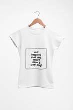 Load image into Gallery viewer, Music Quoted Printed T-Shirt Type-10